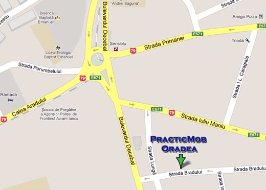 Map of Practicmob Oradea